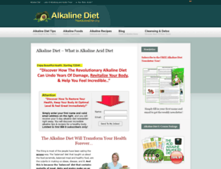 thealkalinediet.org screenshot
