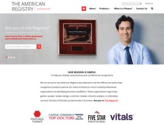 theamericanregistry.com screenshot