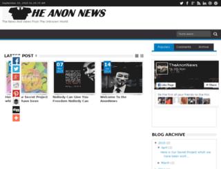 theanonnews.com screenshot