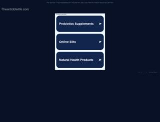 theantidotelife.com screenshot