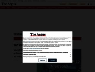 theargus.co.uk screenshot