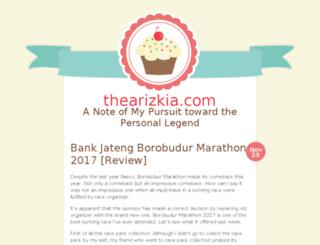 thearizkia.com screenshot