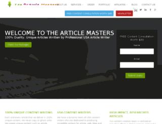 thearticlemasters.com screenshot
