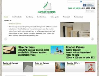 theartisanscorner.com.au screenshot