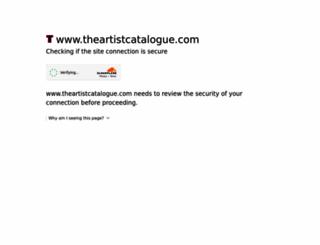 theartistcatalogue.com screenshot