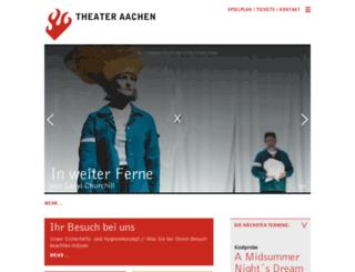 theater-aachen.de screenshot