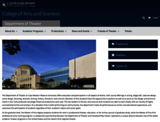 theater.case.edu screenshot