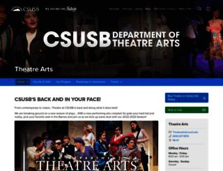 theatre.csusb.edu screenshot