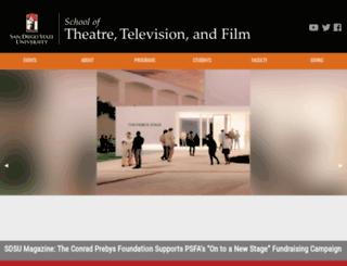 theatre.sdsu.edu screenshot