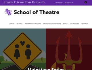 theatre.sfasu.edu screenshot