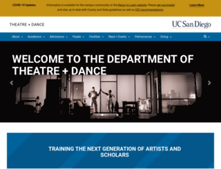 theatre.ucsd.edu screenshot