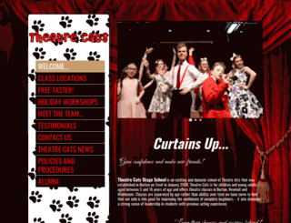 theatrecats.co.uk screenshot