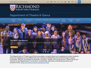theatredance.richmond.edu screenshot