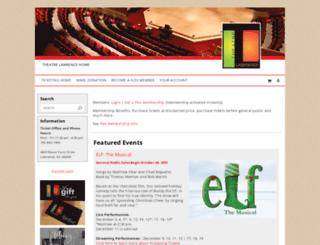 theatrelawrence.showare.com screenshot