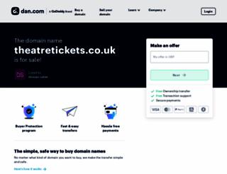 theatretickets.co.uk screenshot