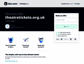 theatretickets.org.uk screenshot