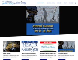 theatrewesternsprings.com screenshot