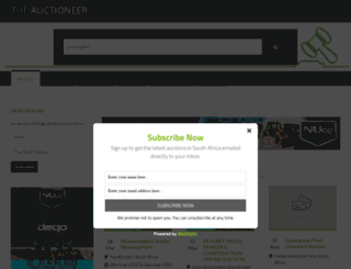theauctioneer.co.za screenshot