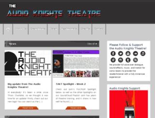 theaudioknightstheatre.com screenshot