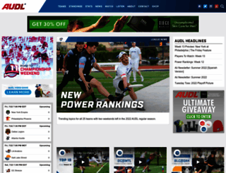 theaudl.com screenshot