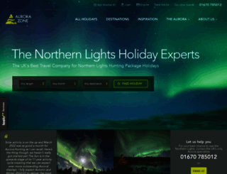 theaurorazone.com screenshot