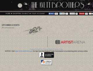 theavettbrothers.artistarena.com screenshot