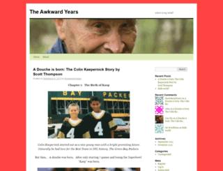 theawkwardyears.wordpress.com screenshot