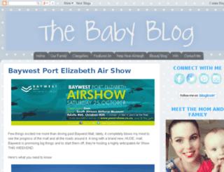 thebabyblog.co.za screenshot