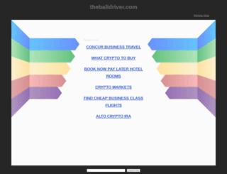 thebalidriver.com screenshot