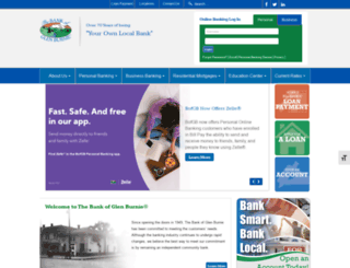 thebankofglenburnie.net screenshot