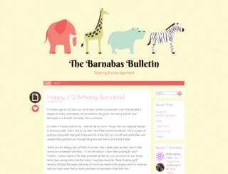 thebarnabasbulletin.wordpress.com screenshot