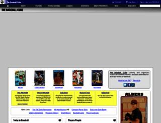 thebaseballcube.com screenshot