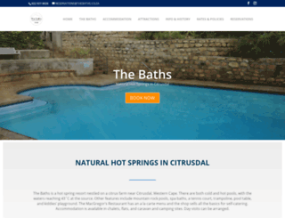 thebaths.co.za screenshot