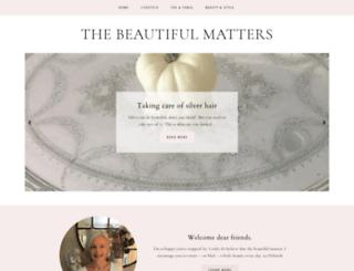thebeautifulmatters.blogspot.com screenshot
