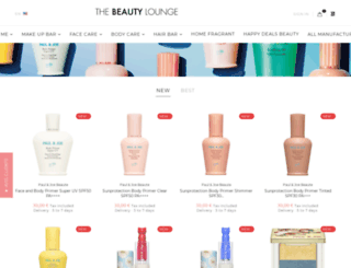 thebeautylounge.com screenshot