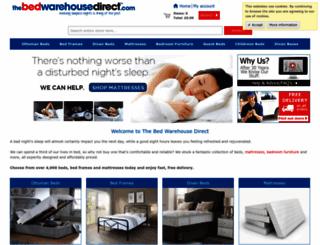 thebedwarehousedirect.com screenshot