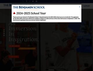 thebenjaminschool.org screenshot