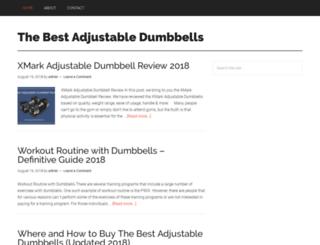 thebestadjustabledumbbells.net screenshot