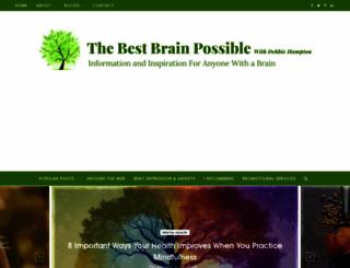thebestbrainpossible.com screenshot