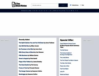 thebestnotes.com screenshot