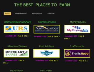 thebestplacestoearnings.weebly.com screenshot