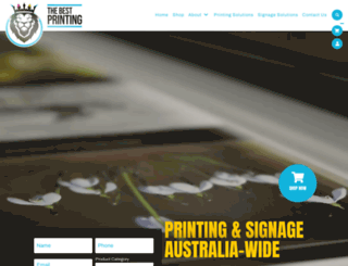 thebestprinting.com.au screenshot