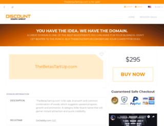 thebetastartup.com screenshot