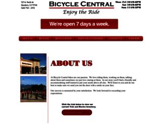 thebicyclecentral.com screenshot