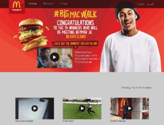 thebigmacwalk.com screenshot