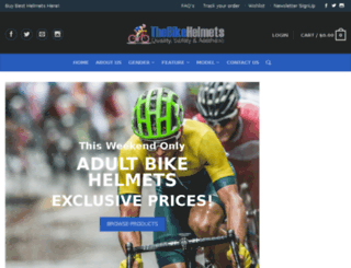 thebikehelmets.com screenshot