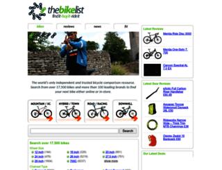 thebikelist.co.uk screenshot