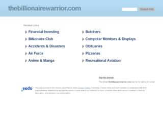thebillionairewarrior.com screenshot