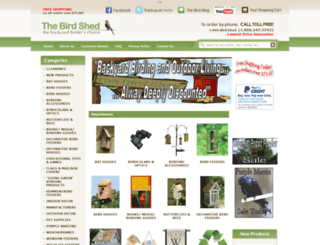 thebirdshed.com screenshot
