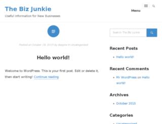 thebizjunkie.com screenshot